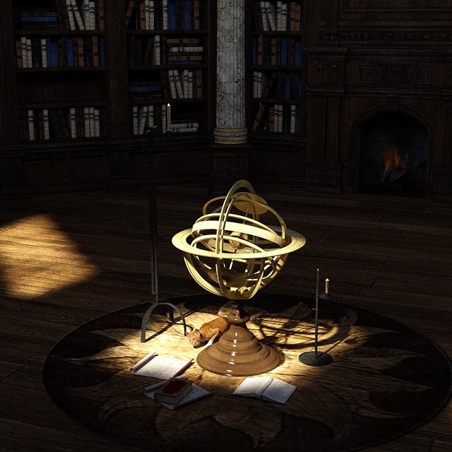 globus v knihovně